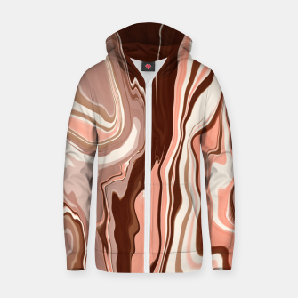 Miniatur Pink marbled detail 36 Sudadera con capucha y cremallera , Live Heroes