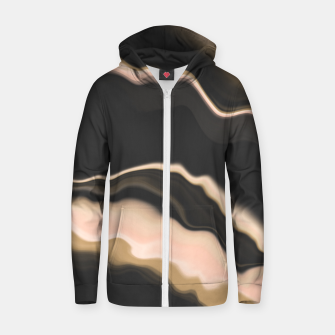 Thumbnail image of Marbled brushstrokes dark 30 Sudadera con capucha y cremallera , Live Heroes