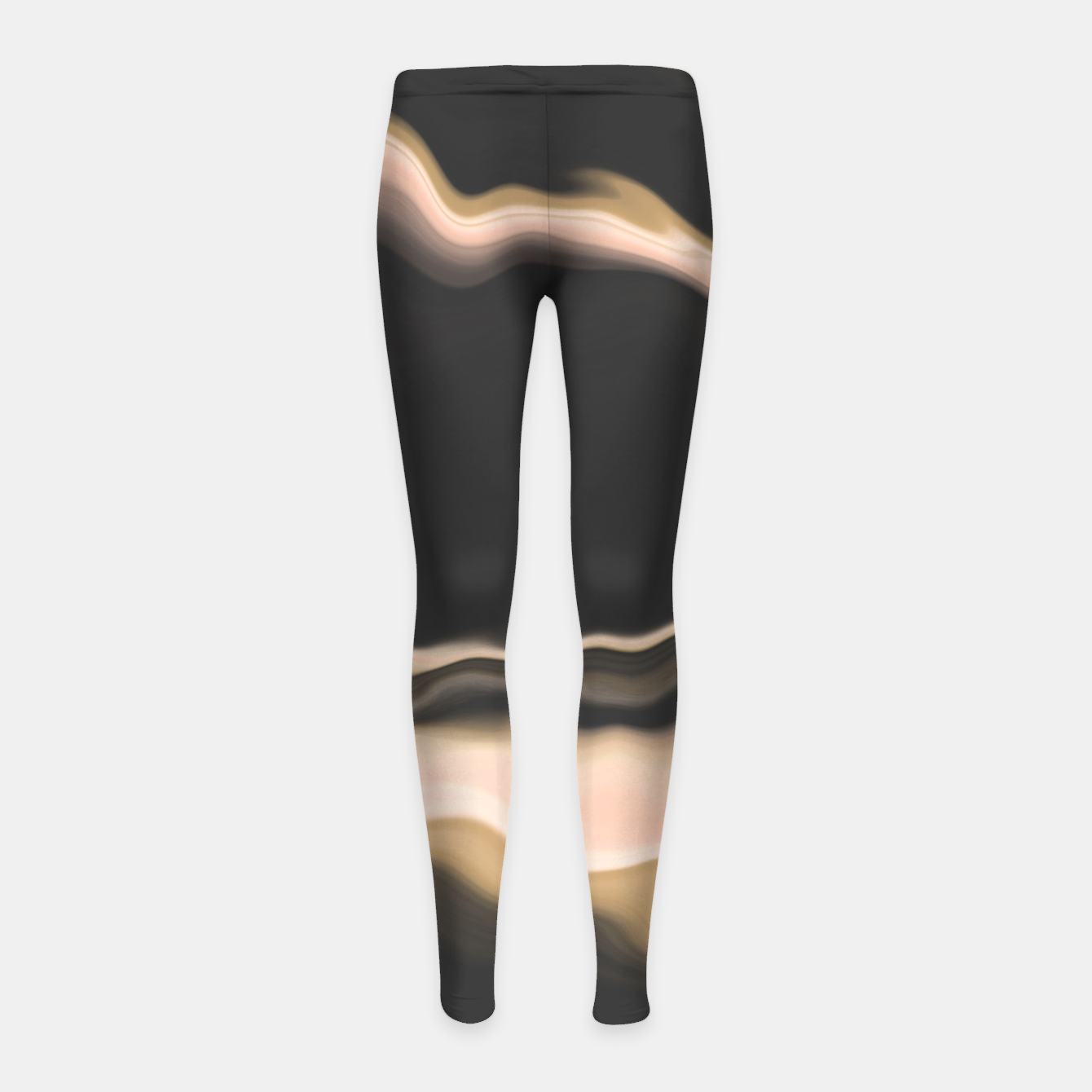 Image of Marbled brushstrokes dark 30 Leggings para niña - Live Heroes