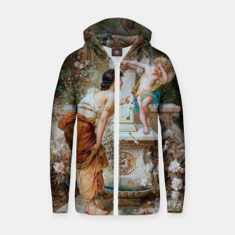 Thumbnail image of Youth by Hans Zatzka Old Masters Xzendor7 Reproduction Zip up hoodie, Live Heroes