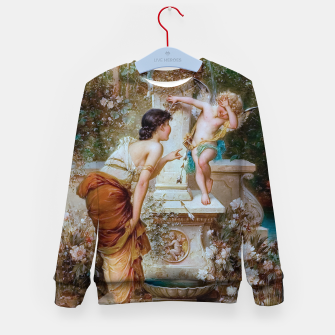 Thumbnail image of Youth by Hans Zatzka Old Masters Xzendor7 Reproduction Kid's sweater, Live Heroes