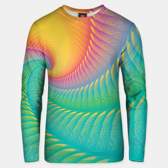 Miniaturka Minimalist Geometric Colorful Spiral in Rainbow Colors Unisex sweater, Live Heroes