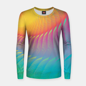 Miniaturka Minimalist Geometric Colorful Spiral in Rainbow Colors Women sweater, Live Heroes