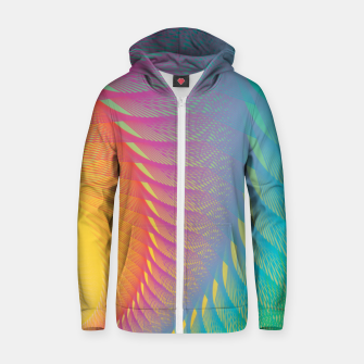 Miniaturka Minimalist Geometric Colorful Spiral in Rainbow Colors Zip up hoodie, Live Heroes