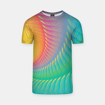 Miniaturka Minimalist Geometric Colorful Spiral in Rainbow Colors T-shirt, Live Heroes
