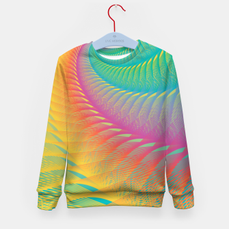 Miniaturka Minimalist Geometric Colorful Spiral in Rainbow Colors Kid's sweater, Live Heroes