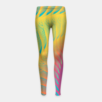 Miniaturka Minimalist Geometric Colorful Spiral in Rainbow Colors Girl's leggings, Live Heroes