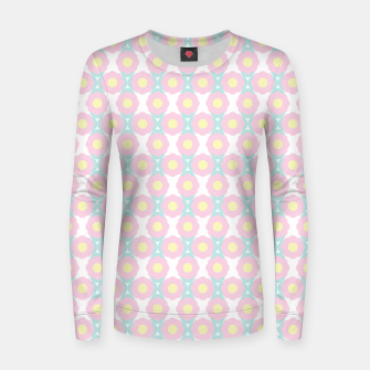 Miniaturka Unicorn Dreams, Abstract Retro Minimalist Geometric Floral Pattern in Beautiful Light Pastel Colors  Women sweater, Live Heroes