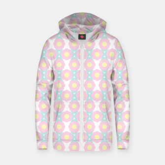 Miniaturka Unicorn Dreams, Abstract Retro Minimalist Geometric Floral Pattern in Beautiful Light Pastel Colors  Zip up hoodie, Live Heroes