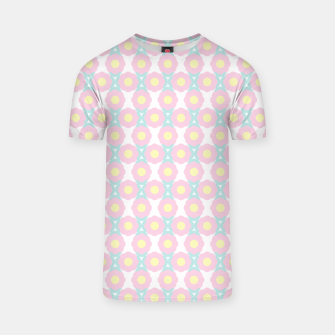 Miniaturka Unicorn Dreams, Abstract Retro Minimalist Geometric Floral Pattern in Beautiful Light Pastel Colors  T-shirt, Live Heroes