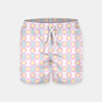 Miniaturka Unicorn Dreams, Abstract Retro Minimalist Geometric Floral Pattern in Beautiful Light Pastel Colors  Swim Shorts, Live Heroes