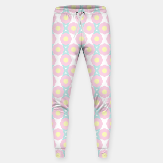 Miniaturka Unicorn Dreams, Abstract Retro Minimalist Geometric Floral Pattern in Beautiful Light Pastel Colors  Sweatpants, Live Heroes
