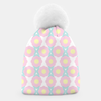 Miniaturka Unicorn Dreams, Abstract Retro Minimalist Geometric Floral Pattern in Beautiful Light Pastel Colors  Beanie, Live Heroes
