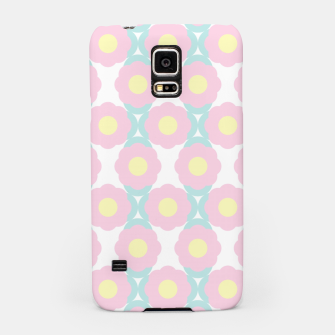 Miniaturka Unicorn Dreams, Abstract Retro Minimalist Geometric Floral Pattern in Beautiful Light Pastel Colors  Samsung Case, Live Heroes