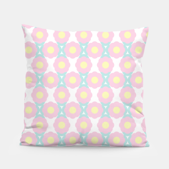 Miniaturka Unicorn Dreams, Abstract Retro Minimalist Geometric Floral Pattern in Beautiful Light Pastel Colors  Pillow, Live Heroes