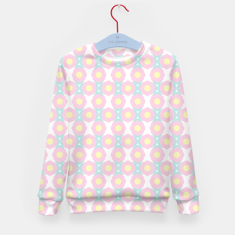 Miniaturka Unicorn Dreams, Abstract Retro Minimalist Geometric Floral Pattern in Beautiful Light Pastel Colors  Kid's sweater, Live Heroes