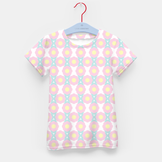 Miniaturka Unicorn Dreams, Abstract Retro Minimalist Geometric Floral Pattern in Beautiful Light Pastel Colors  Kid's t-shirt, Live Heroes