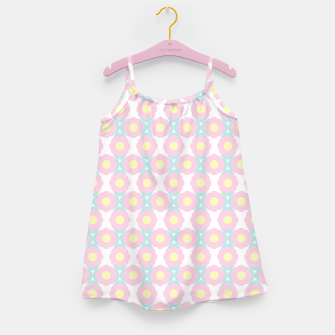 Miniaturka Unicorn Dreams, Abstract Retro Minimalist Geometric Floral Pattern in Beautiful Light Pastel Colors  Girl's dress, Live Heroes