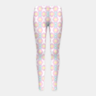 Miniaturka Unicorn Dreams, Abstract Retro Minimalist Geometric Floral Pattern in Beautiful Light Pastel Colors  Girl's leggings, Live Heroes