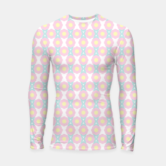 Miniaturka Unicorn Dreams, Abstract Retro Minimalist Geometric Floral Pattern in Beautiful Light Pastel Colors  Longsleeve rashguard , Live Heroes