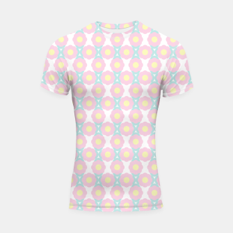Miniaturka Unicorn Dreams, Abstract Retro Minimalist Geometric Floral Pattern in Beautiful Light Pastel Colors  Shortsleeve rashguard, Live Heroes