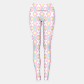 Miniaturka Unicorn Dreams, Abstract Retro Minimalist Geometric Floral Pattern in Beautiful Light Pastel Colors  Leggings, Live Heroes