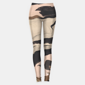 Digital acrylic brushstrokes Leggings thumbnail image