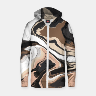 Abstract artistic painting 35 Sudadera con capucha y cremallera  miniature