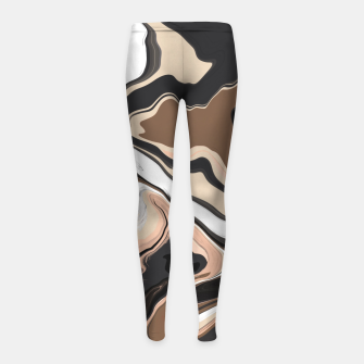 Abstract artistic painting 35 Leggings para niña miniature
