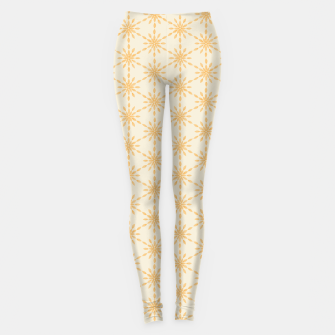 Thumbnail image of Golden Geometric Watercolor Snowflakes and Flowers Pattern  Leggings, Live Heroes