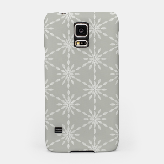 Geometric Watercolor Snowflakes and Flowers in Grey and White Samsung Case Bild der Miniatur
