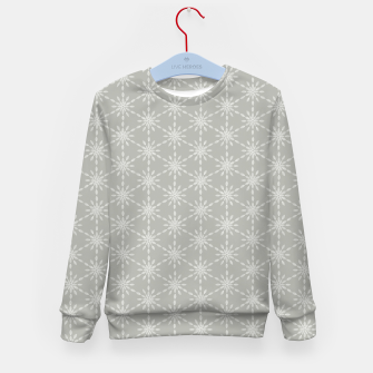 Miniaturka Geometric Watercolor Snowflakes and Flowers in Grey and White Kid's sweater, Live Heroes