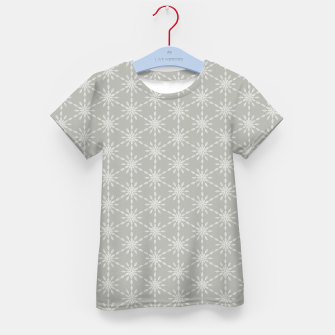 Miniaturka Geometric Watercolor Snowflakes and Flowers in Grey and White Kid's t-shirt, Live Heroes