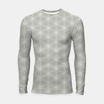 Miniaturka Geometric Watercolor Snowflakes and Flowers in Grey and White Longsleeve rashguard , Live Heroes
