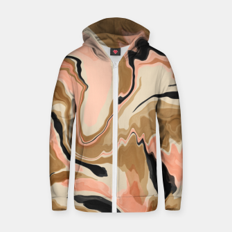 Abstract artistic painting 63 Sudadera con capucha y cremallera  miniature