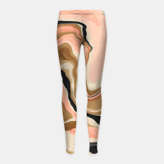 Abstract artistic painting 63 Leggings para niña miniature