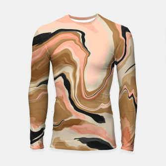 Abstract artistic painting 63 Longsleeve rashguard miniature