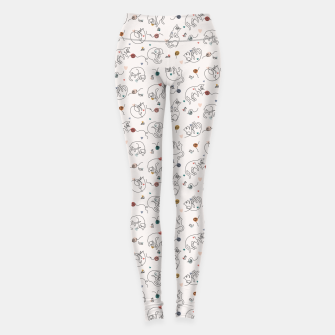 Miniaturka Lovely furballs of happiness in continuous line Leggings, Live Heroes