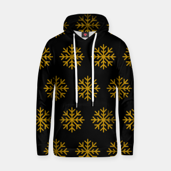 Imagen en miniatura de Golden Snowflakes Winter Christmas Holiday Xmas December Art Hoodie, Live Heroes
