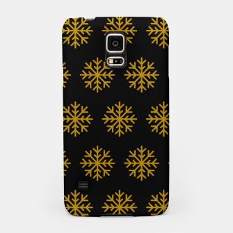 Imagen en miniatura de Golden Snowflakes Winter Christmas Holiday Xmas December Art Samsung Case, Live Heroes