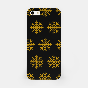Imagen en miniatura de Golden Snowflakes Winter Christmas Holiday Xmas December Art iPhone Case, Live Heroes