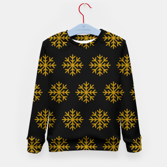 Imagen en miniatura de Golden Snowflakes Winter Christmas Holiday Xmas December Art Kid's sweater, Live Heroes
