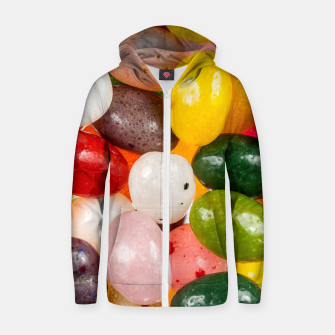 Miniature de image de Cool colorful sweet Easter Jelly Beans Candy Zip up hoodie, Live Heroes
