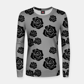 Miniature de image de Black Rose Garden Flower Lover Gifts Gardening Gardener Women sweater, Live Heroes