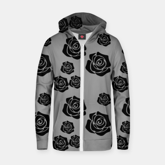 Miniature de image de Black Rose Garden Flower Lover Gifts Gardening Gardener Zip up hoodie, Live Heroes
