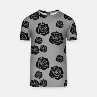 Thumbnail image of Black Rose Garden Flower Lover Gifts Gardening Gardener T-shirt, Live Heroes
