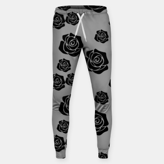 Thumbnail image of Black Rose Garden Flower Lover Gifts Gardening Gardener Sweatpants, Live Heroes
