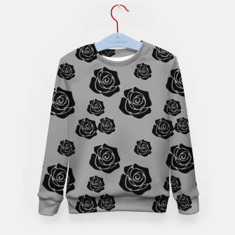Miniature de image de Black Rose Garden Flower Lover Gifts Gardening Gardener Kid's sweater, Live Heroes