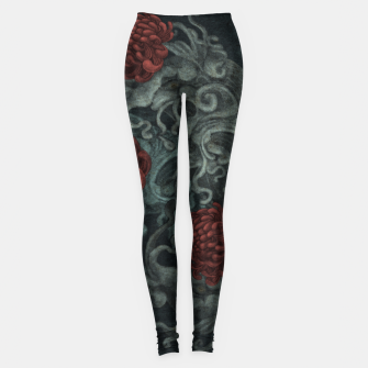 Thumbnail image of Red Flowers Leggings, Live Heroes