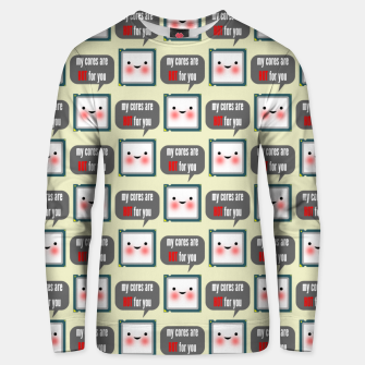 Thumbnail image of Cute geeky blushing CPU My cores are hot for you pattern Unisex sweater, Live Heroes